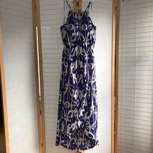 Sz XL Athleta maxi dress bra&lining purple & white